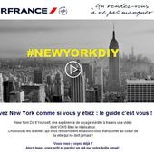 New York Do it Yourself par Air France - Nouveaux-concepts.com