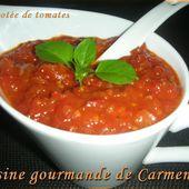 Compotée de tomates - Cuisine gourmande de Carmencita