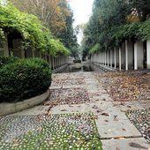 Les jardins à Bercy construit à l'emplacement des anciens entrepôts de vins de Bercy