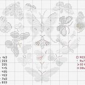 "Schema ""coeur papillons - butterflyies heart"" simboli - Blog di iltelaiopovolaro.over-blog.it"