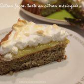 Gâteau façon tarte au citron meringuée... - UneLiyaasDeBonnesChoses