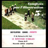 l'anglais par l'illustration 5e - cassette encyclopédie sonore Hachette - 1969 - l'oreille cassée