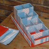 Pour le bureau : une boîte à stylos et trombones - Le-voyage-du-sac-à-cadeaux