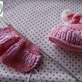 tuto chaussons naissance - Le blog de pagecouleur