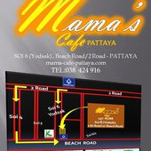 PLAN D'ACCES-MAMA'S CAFE PATTAYA - restaurant français - mama's cafe pattaya soi 6 (Italian &amp&#x3B;amp&#x3B; french restaurant)