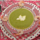 Velouté de brocoli aux gambas *recette allégée (pour 4 personnes) - Cook'N'co, le blog de cuisine