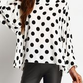 Blouse à pois -Noir -French SheIn(Sheinside)