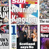 Le non en une des quotidiens écossais | L'Écosse a dit non au référendum | ICI.Radio-Canada.ca