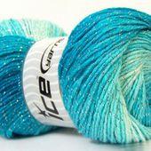 Magic Glitz Blanc Turquoise Argent Bleu clair