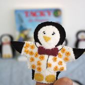 Tacky the Penguin finger puppets (with free pattern!)