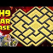 Best Th9 War Base 2017 With Bomb Tower Anti-2 Star Town Hall 9 Anti-All Combo