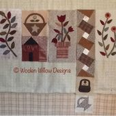 Jeni's blog from the Willow: Free Primitive Sew Along, layout so far, and part 7!