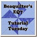 EQ7 Tutorial Tuesday- scrappy spider web quilts
