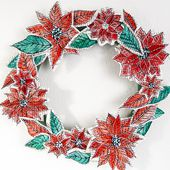 paper flowers holiday wreath