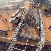 Un pont en RCA: dans la grande tradition des soldats bâtisseurs