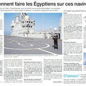 Les premiers marins égyptiens sont arrivés dimanche à Saint-Nazaire