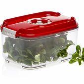 Boite sous vide Status Rectangulaire 2 litres. Choix de la couleur : Blanc, vert Pomme, Rouge.