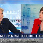 Acharnement de Ruth Elkrief contre Marine Le Pen pour faire la promotion de Macron (28 avril 2017)
