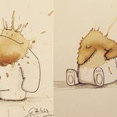 Top 15 des monstres en taches de café de Stefan Kuhnigk, le mec maladroit mais créatif