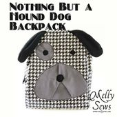 Nothing But a Hound Dog Backpack. - Melly Sews