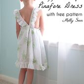 Ruffle Strap Pinafore Dresses with Free Pattern - Melly Sews