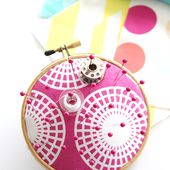 Embroidery Hoop Pin Cushion - The Sewing Rabbit