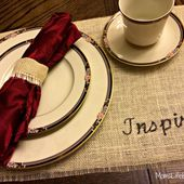 No Sew Placemats Using Burlap Material - MomsLifeboat