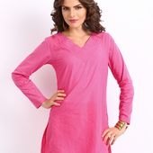 Buy Rangriti Women Pink Kurti - 381 - Apparel for Women