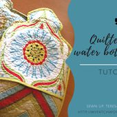 Stipple quilted hot water bottle cover tutorial