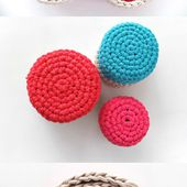 Crochet Nesting Baskets with Zpagetti Yarn
