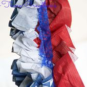 Red White and Blue Ruffled Garland - Nap-time Creations