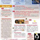 Flyer de l'édition 2016 de la Fête de la Paix - PCF Oise, 25 & 26 juin 2016
