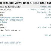Un télégramme confirme que le marché des contrats à terme sur l'or a été créé pour bloquer les prix