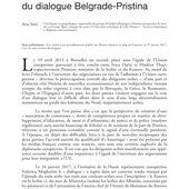 La décentralisation à l'épreuve du dialogue Belgrade-Pristina (T 866)