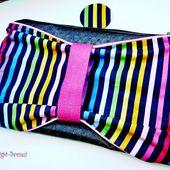 Noël 2013 chez Moonlight-Thread - La trousse noeud Rainbow (concours inside) #concours #Noel #sewing