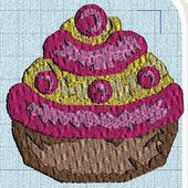 broderie machine : des muffins - cathy73