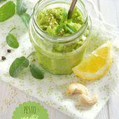 Pesto végétal de courgettes crues - La gourmandise selon Angie