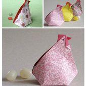 Une poule en origami pour Pâques - Instants Papiers
