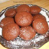 Fondant chocolat noix de coco - Mes recettes et photos de gâteaux