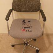 Chaise de bureau customisée. - recyclage et Cie . . .