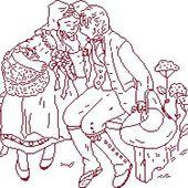 Point de croix : alsaciens couples - cathy73