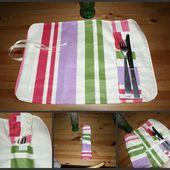 Tuto de mai : Un set de table nomade... - boule2laine créative