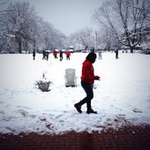 Twitter / StJohnsU: Snowball fight on the great ...