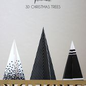 Printable 3D Christmas Trees - Persia Lou