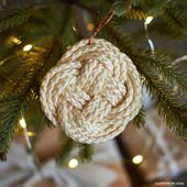 Knotted Macrame Ornaments - Lia Griffith