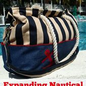 Expanding Nautical Tote Bag Pattern - So Sew Easy