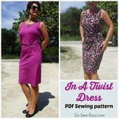 Twist Front Dress Pattern - POTM - So Sew Easy