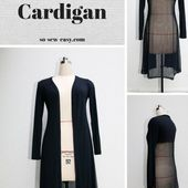 The easy long cardigan, a staple in your wardrobe - So Sew Easy