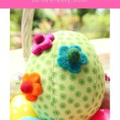 Fabric Easter Egg Made with Fabric Scraps - So Sew Easy
