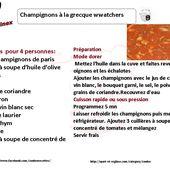 Recette cookeo champignons à la grecque weight watchers |